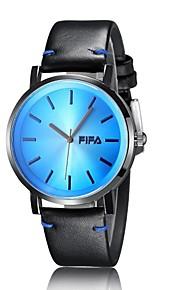 Unissex Relógio de Moda Quartz Colorido Couro Banda Casual Preta marca