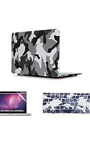 """3 в 1 камуфляж дизайн обложки чехол + клавиатура + крышка протектор экрана чехол для MacBook Air 11 """"13"""" сетчатки / 15 """""""