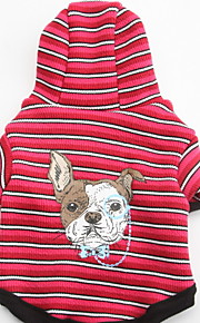 Dog Hoodies - XS / S / M / L - Winter - Red - Waterproof / Fashion - Cotton