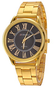 Men's Classic Dial Gold Steel Band Quartz Wristwatch Cool Watch Unique Watch