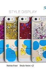 분말과 iphone5,5s 액체 다시 경우, 5C (모듬 색상)와 sanlead 아이티 크리올어 축제 - 오리 시리즈는 1 ~ 2 PC