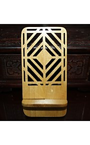 Window Grille(Diamond shape)Ivory Wooden Phone Holder