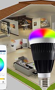 1 stk. HTL E26/E27 10 W RGB5050 7 PCS SMD 5050 Warm white:800LM LM Varm hvit / RGB A60(A19) Dimbar / Bluetooth Smart LED-lampe AC 100-240