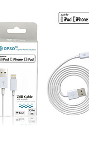 OPSO äpple mfi godkänd USB-kabel 3.28ft (1m) för iphone 6 / 6s, 6 / 6s plus, iphone 5 / 5s / 5c, ipad uppgifter laddkabel
