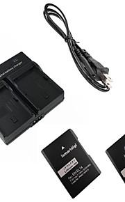 ismartdigi EL14 digitalt kamera batteri x2 + dobbelt oplader til Nikon D3200 d3300 D5100 d5200 D5300 D5500