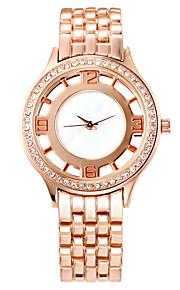 Damen Modeuhr Quartz Legierung Band Armbanduhr Rotgold