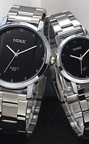 Masculino / Mulheres / Casal Relógio de Moda Quartz Relógio Casual Lega Banda Prata / Dourada marca-