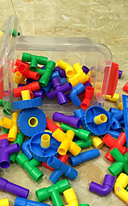 montering plaströr stora box byggstenar byggsats DIY leksaker (88pcs)