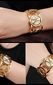 JYY®Brand Ladies' Bracelet Watch Luxury Gold Watches Women Fashion Quartz Wrist Watch with Date Display Dress Jewelry