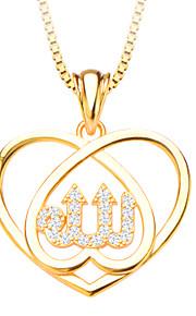 hjerte form krystal vedhæng smykker 18K forgyldt hvide simulerede diamant vedhæng til kvinder / mænd p30134