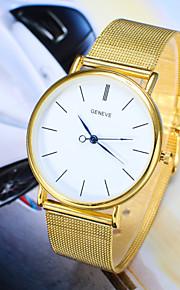 Herren Modeuhr Quartz Armbanduhren für den Alltag Legierung Band Armbanduhr Silber / Gold