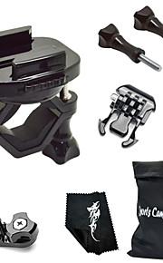 360 Degree Rotating Bike Clamp Mount Kit For All Gopro Hero Camera/SJCAM/Xiaoyi-Black[A]