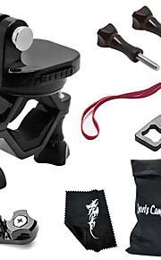 360 Degree Rotating Bike Clamp Mount Kit For All Gopro Hero Camera/SJCAM/Xiaoyi-Black[B]