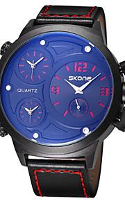 Masculino Relógio Elegante / Relógio de Moda Quartzo Japonês Impermeável PU Banda Casual Preta marca