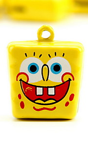 Spongebob Squarepants Cartoon Pure Copper Pet Pendant Bell(2 PCS 2cm)