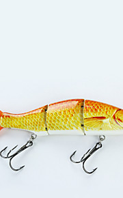 "MmLong 4.5"" Fishing Lures Artificial Bait 3 Segments Fishing Crankbait Lifelike Swimbait Slow Sinking Lure #MML18A-S"