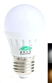 1 stk. 战狼之光 E26/E27 6W 12 SMD 5730 550 lm Varm hvit / Naturlig hvit G45 Dekorativ LED-globepærer AC 85-265 V