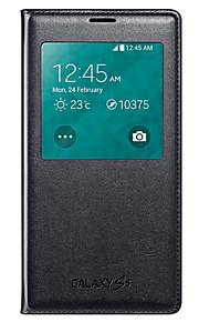 vista della finestra dormienza auto funzione sleep del cuoio di vibrazione di caso della copertura variopinta per i9600 Samsung Galaxy S5