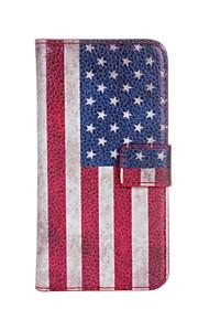 HTC 욕망 (500)에 대한 미국 또는 영국 국기 가죽 케이스 커버 지갑 카드 슬롯 케이스