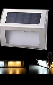 solenergi vegglamper 2 ledet utendørs vanntett hage sti trapper solcelledrevet lampe lys