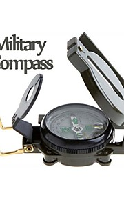 Mini Military Camping Marching Lensatic Compass Magnifier Green for Camping and Hiking