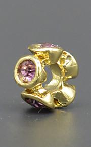 DIY beaded armbånd halskæde tilbehør vakuum forgyldt mode kronblade med zircon lampwork perler hac0065