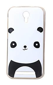 panda rojo nueva TPU suave cubierta de la caja de valencia Doogee 2 Y100 teléfonos móviles fundas estuches