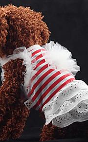 Собаки Платья Красный / Белый Лето / Весна/осень Классика / Полоски Полоски / Мода-Lovoyager