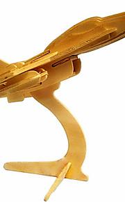 drewniane samoloty F16 3d puzzle zabawki do majsterkowania