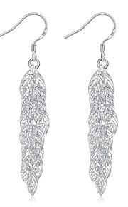 Dame Dråbeøreringe Smykker Enkelt design Sølvbelagt Smykker Smykker TilBryllup Fest Speciel Lejlighed Halloween Fødselsdag Forlovelse