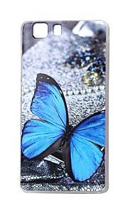 mariposa azul nueva TPU suave cubierta de la caja para las bolsas de las cajas del teléfono móvil Doogee x5