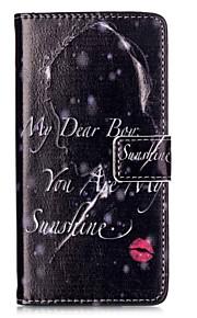 læbestift relief malet pu telefon tilfældet for Huawei P9 lite / P9