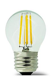 1 pieza kwb E26/E27 3W / 4W 4 COB 400 lm Blanco Cálido G45 edison Cosecha Bombillas de Filamento LED AC 100-240 V