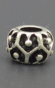DIY beaded armbånd halskæde tilbehør vakuum plating tyk sølv + udtværing mode stort hul perle hac0049 bump