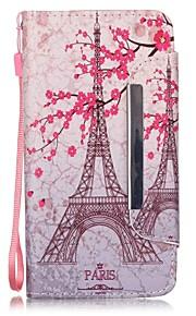 de Eiffeltoren patroon pu lederen portemonnee case voor de Samsung Galaxy J5 / G360 / G530 / 9082