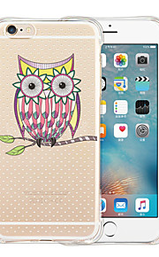 Owl Soft Transparent Silicone Back Case for iPhone 6/6S (Assorted Colors)