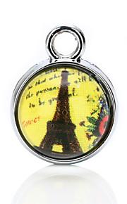 vilam® cabochon glas tid perle 1cm gennemsigtige perler med tilfældige foto i det 3 stk
