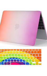 "2  in 1 Rainbow Colorful Plastic Full Body  Case +Keyboard Cover for MacBook Air 11""/13"""