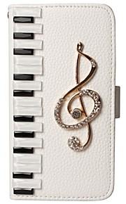 Tastiera di lusso pianoforte bling nota musicale Flash diamante raccoglitore dell'unità di elaborazione di cuoio della cassa del sacchetto