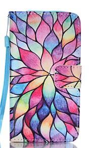 용 지갑 카드 홀더 스탠드 플립 패턴 케이스 풀 바디 케이스 꽃장식 하드 인조 가죽 용 Samsung A3 (2017) A5 (2017)