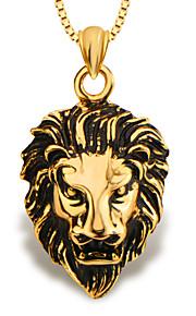 mode løve dyr smykker vedhæng 18K forgyldt mænd / kvinder gave p30137