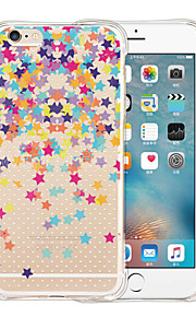 Star Falling All Over The Sky Soft Transparent Silicone Back Case for iPhone 5/5S(Assorted Colors)