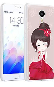 ximalong la cáscara del teléfono chica romántica relieves pintados aplican para mei zu nota m3