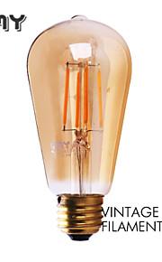 1 stk. GMY E26/E27 3W 4 COB ≥330 lm Varm hvit ST58 edison Vintage LED-glødepærer AC 220-240 V