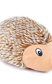 Cat / Dog Pet Toys Plush Toy Squeak / Squeaking / Hedgehog Brown Textile