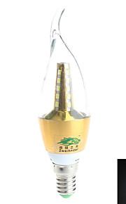 1 stk. Zweihnder E14 7W 25 SMD 2835 600 lm Naturlig hvit Roterbar Dekorativ LED-lysestakepærer AC 85-265 V
