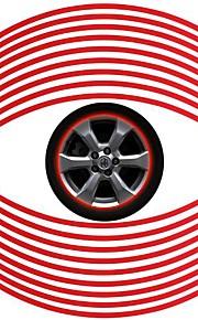 6Mm Wide Car Accessories Universal Is Felgenrandaufkleber Red Sticker