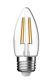 1 pieza kwb E26/E27 3W / 4W 4 COB 400 lm Blanco Cálido C35 edison Cosecha Bombillas de Filamento LED AC 85-265 V