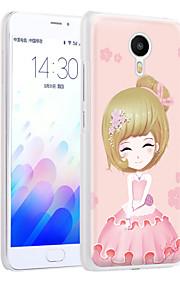 ximalong la cáscara del teléfono chica confianza pintado relieves aplican para mei zu nota m3