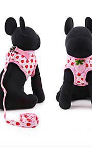 Köpekler Koşum Takımı Siyah / Beyaz / Pembe Sünger